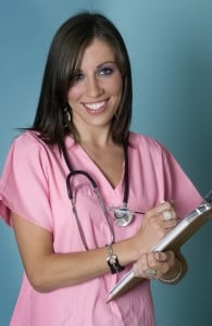 Attractive Caring Smiling Nurse