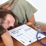 Exhausted Medical Student